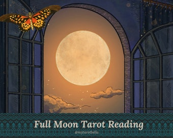 FULL MOON TAROT reading with Cosmopolitan's tarot columnist (change your life this Full Moon!) via email/pdf