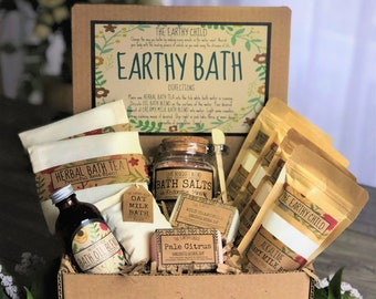 Self Care Bath Gift Set Natural Vegan Box Deluxe Pamper For Women Lover Spa Kit Birthday