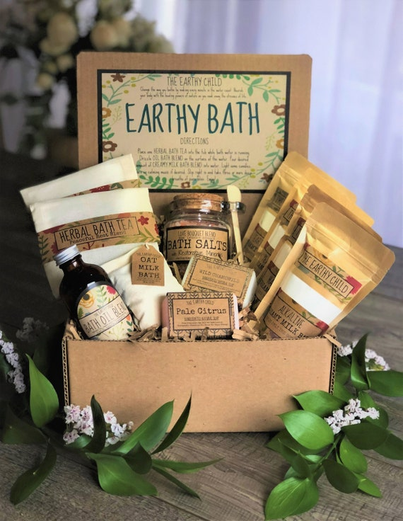 Self Care Bath Gift Set Natural Vegan Box Deluxe