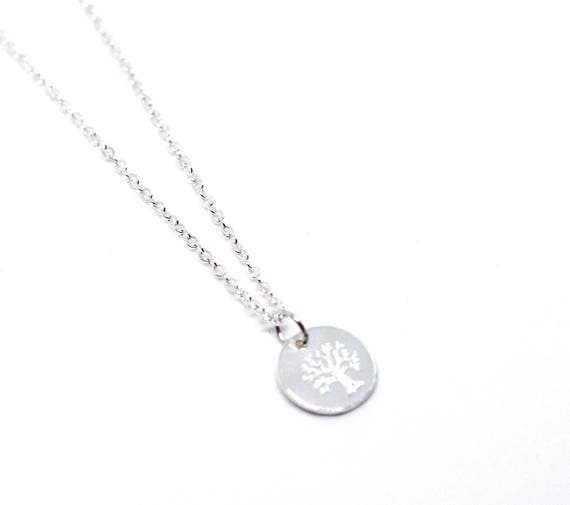Silver tree of life necklace. Tree of life pendant. silver chain. Silver delicate necklace. Good luck necklace