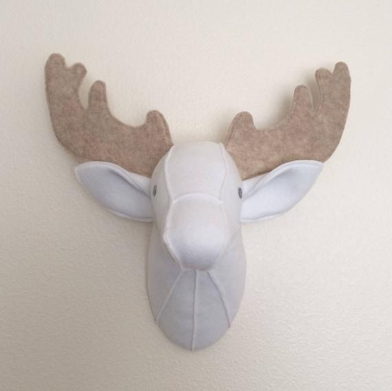 Deer Head Taxidermy Felt Animal Head Wall Decor Baby Etsy