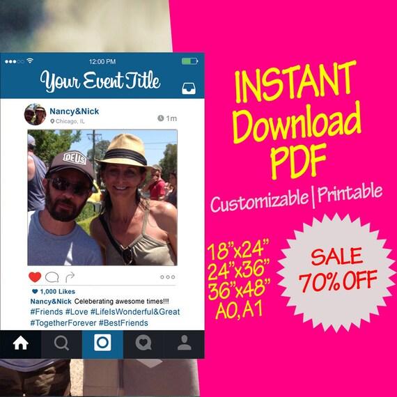 PDF marco de Personalizable Instagram apoyo personalizado | Etsy