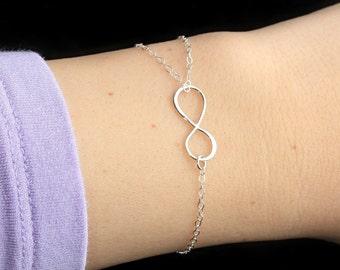 Infinity Lava Essential Oil Diffuser Bracelet, Sterling Silver Aromatherapy, Hidden Lava Beads, Dainty Lava Bead, Minimalist