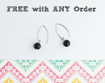 FREE with ANY order - See Details - Do NOT add to cart, Lava Bead Earrings, Minimalist Essential Oil Diffuser Earrings