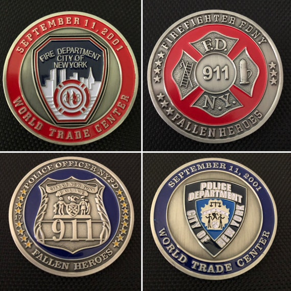 Challenge Coins NYPD & FDNY New York Police Firefighter