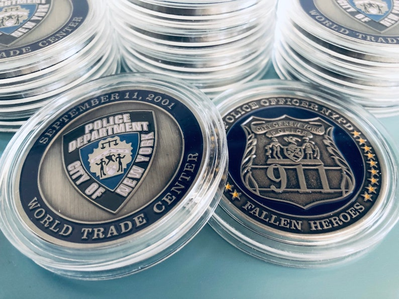 New York Police Department PDNY Commemorative Challenge Coin 9/11 Police USA