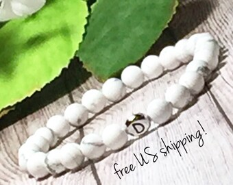 Personalized Jewelry, Initial Bracelet Silver, Initial Bracelet Gold, Initial Bracelet Women, 6mm, DreamCuff Jewelry , Free Shipping