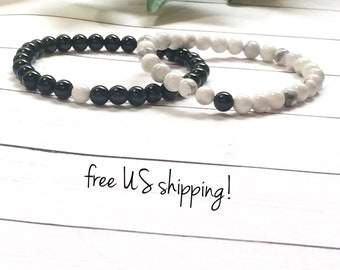 Distance Bracelets, Distance Bracelets for Friends, Friendship Bracelets, Distance Bracelets Couples, 6mm, DreamCuff, Free Shipping