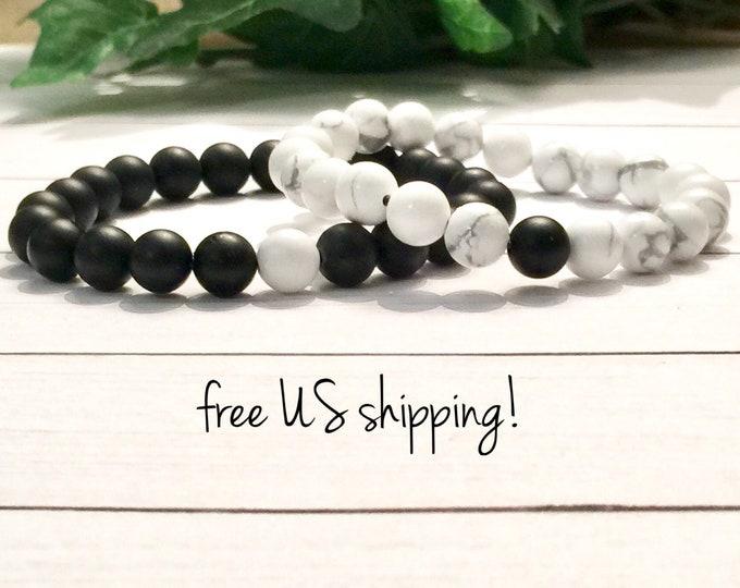Featured listing image: Beaded Bracelet Set, Distance Bracelets for Friends Friendship Bracelets Distance Bracelets for Couples Gift Handmade Jewelry Free Shipping