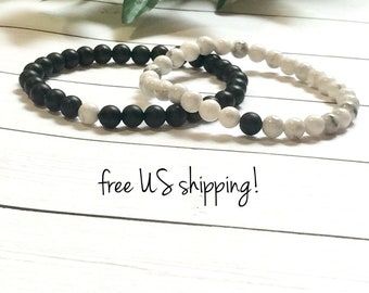 Distance Bracelets, His & Hers, Friendship Jewelry, Friendship Bracelets, Relationship Bracelets, Bracelets for Couples, Dreamcuff Jewelry