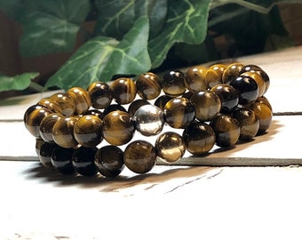New! AAA Yellow Tiger Eye Beaded Bracelet, Beaded Bracelet Women Womens Beaded Bracelet Bead Bracelet Women 8mm Bracelet DreamCuff Jewelry