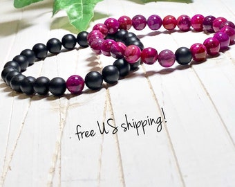 Beaded Bracelets Distance Bracelets for Friends Friendship Bracelets Distance Bracelets for Couples Gift 8mm DreamCuff Jewelry Free Shipping