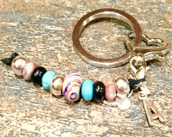 Personalized Leather Keychain, Personalized Key Chain, Keychain, Gift under 10 Dollars, For Her, DreamCuff, Free Shipping Accessories