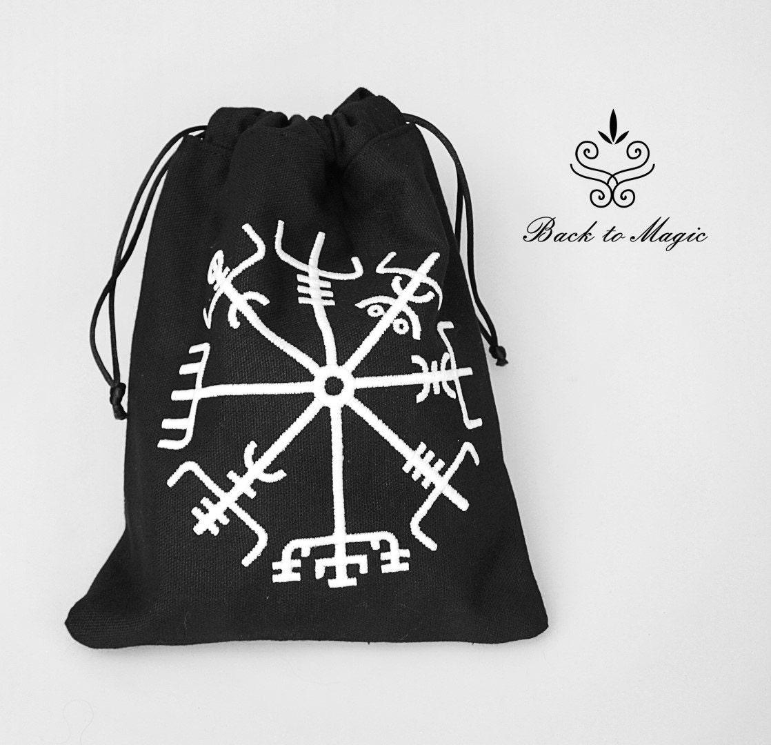 bolsa de runas bordado vegvisir regalo de viking. Black Bedroom Furniture Sets. Home Design Ideas