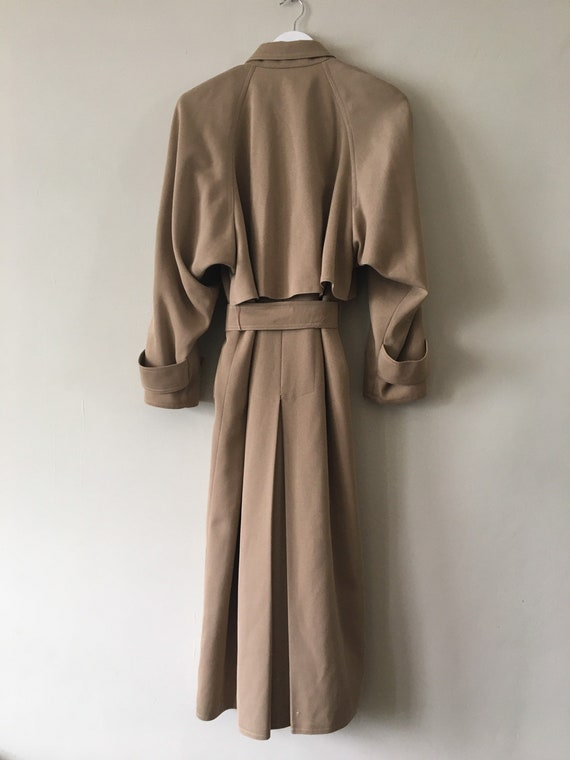 80s Wallis gaberdine angular belted trench coat 10 - image 8