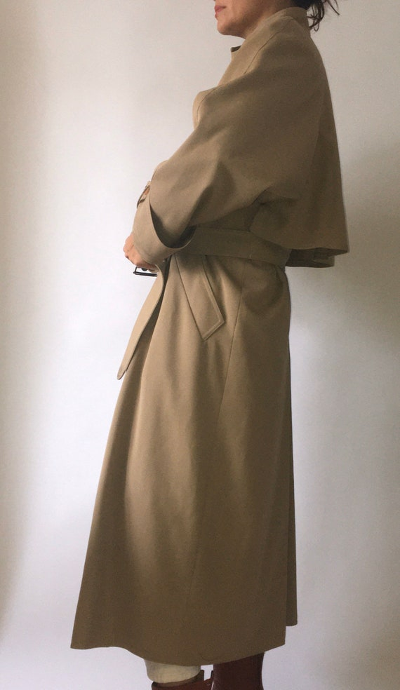 80s Wallis gaberdine angular belted trench coat 10 - image 1