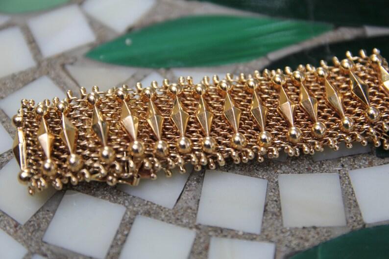 6277b8ed5349 Acoplamiento de las señoras Vintage 18K pulsera pulsera de