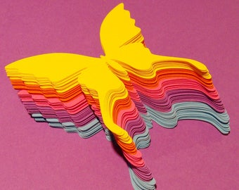 Paper butterflies, 20 pcs, Butterfly party decorations, Butterfly die cuts, Large butterflies, Butterfly cutouts, Butterfly cut out,