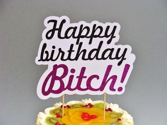 Strange Happy Birthday Cake Topper Naughty Cake Topper Etsy Funny Birthday Cards Online Hendilapandamsfinfo