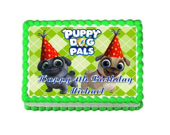 Puppy Dog Pals Edible Cake Topper Birthday