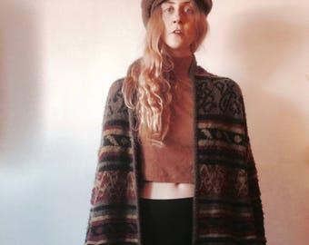 Vintage oversized sweater / sweater jacket / oversized knit sweater / oversized sweater jacket / oversized knit cardigan