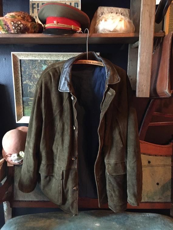 Mens Suede Winter Jacket ||  Suede Overcoat || Men