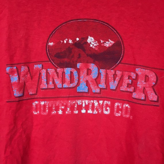 Wind River Tee || Mens Graphic Tee || Red Graphic… - image 2