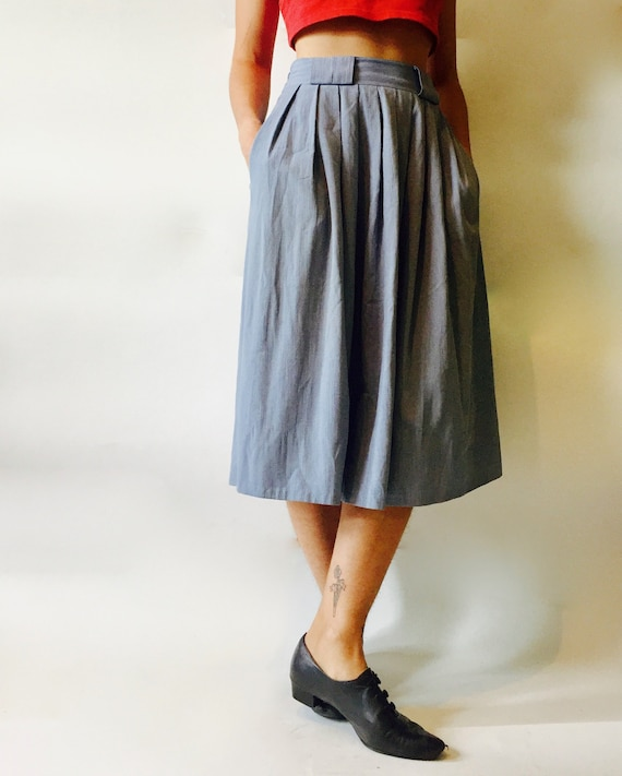 Pleated Midi Skirt || High Waist Pleated Skirt ||
