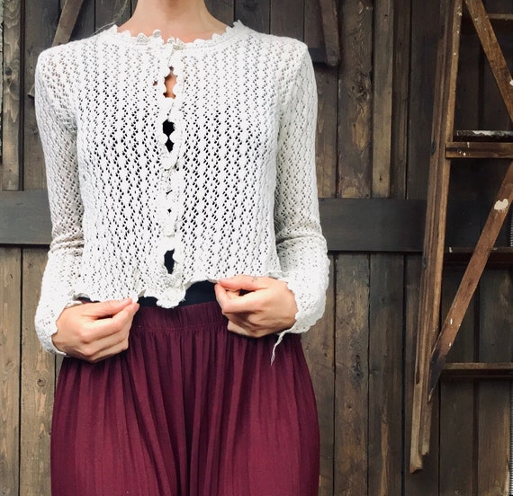 Open Knit Top || Crochet Knit Top || Crochet Long