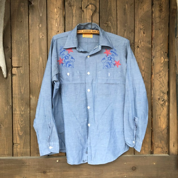 Western shirt     Western Button Up    Long Sleev… - image 10