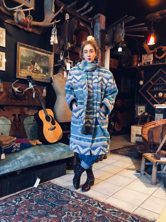 Southwestern Winter Coat || Winter Coat With Scarf