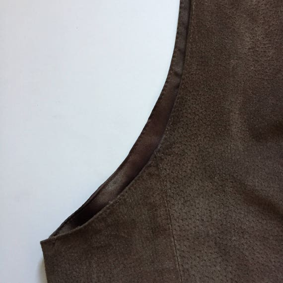 Brown Suede Vest || Vest with Buttons || Brown Su… - image 7
