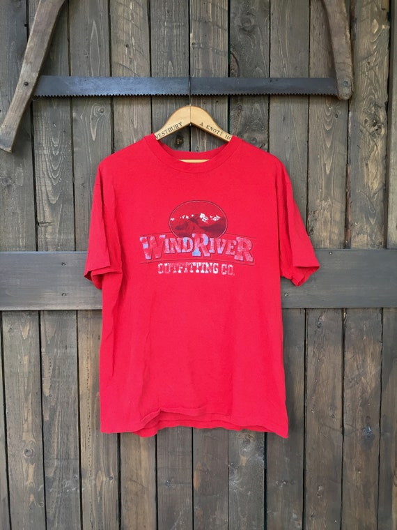 Wind River Tee || Mens Graphic Tee || Red Graphic… - image 1