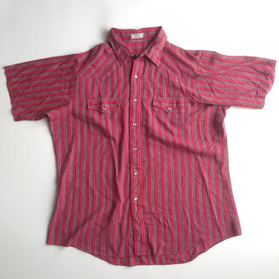 Striped Button Up || Short Sleeve Button Up || Sum