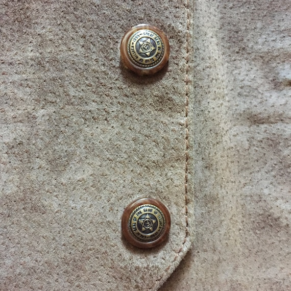Brown Suede Vest || Vest with Buttons || Brown Su… - image 6
