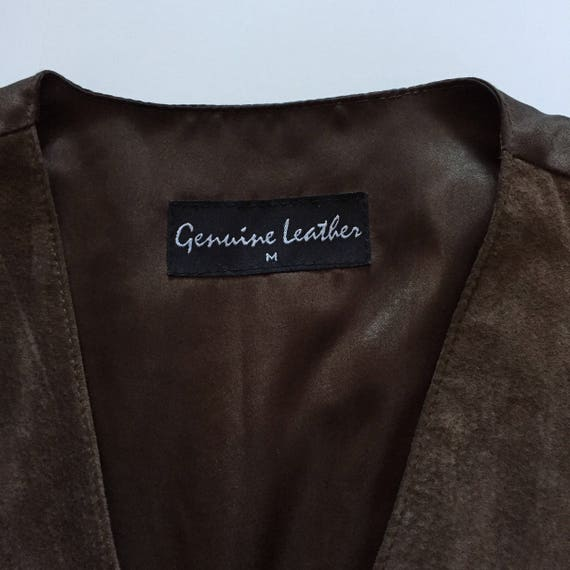 Brown Suede Vest || Vest with Buttons || Brown Su… - image 8