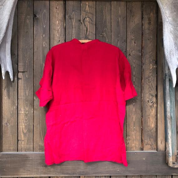 Hand Woven Cotton Shirt || Brilliant Red Short Sl… - image 7