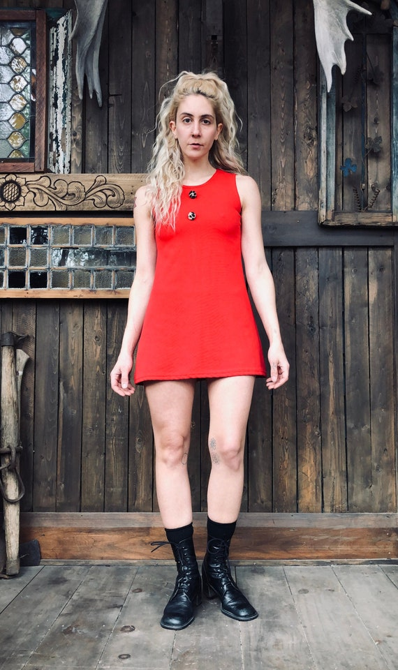 Red Mini Dress || Red Party Dress || Babydoll Dres