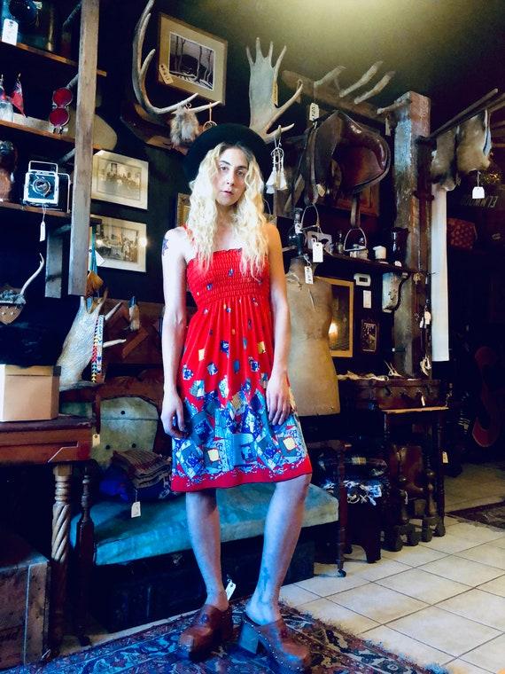 60's Sun Dress || Spaghetti Strap Sun Dress || Pat