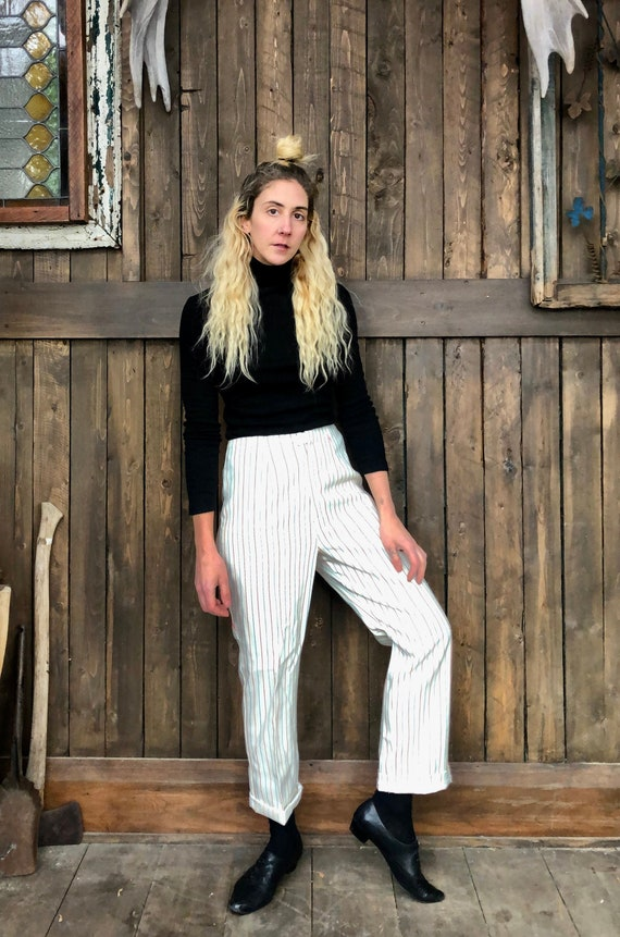 Striped Trousers || White Striped Trousers || Whit