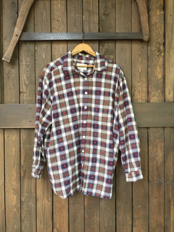 Plaid Button Down || Workers Plaid Shirt ||  Plaid