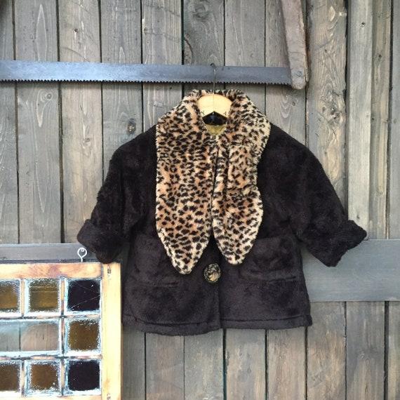Girls Winter Coat || Fun Fur || Cheetah Winter Coa