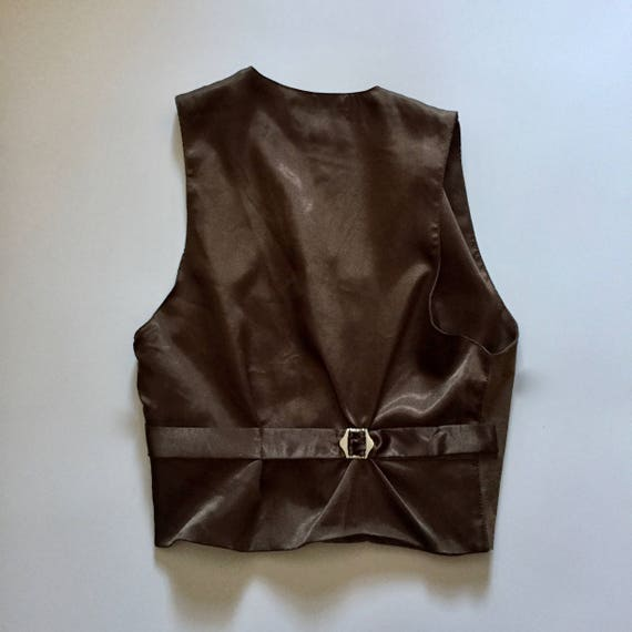 Brown Suede Vest || Vest with Buttons || Brown Su… - image 9