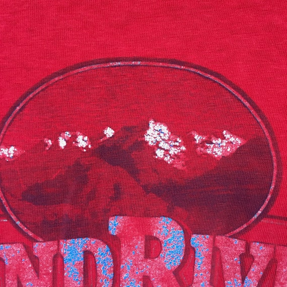 Wind River Tee || Mens Graphic Tee || Red Graphic… - image 4