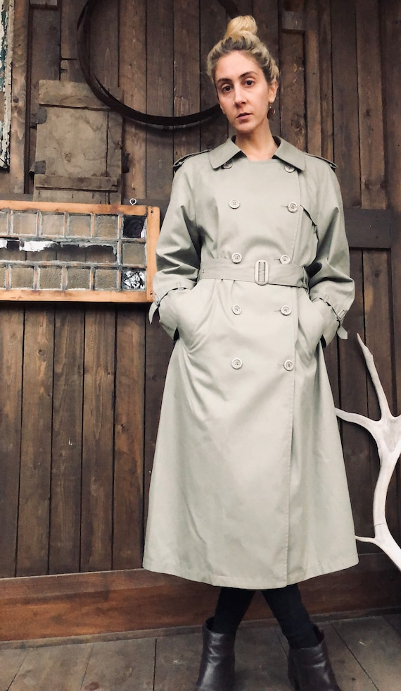 London Fog Trench Coat || Military Trench Coat ||