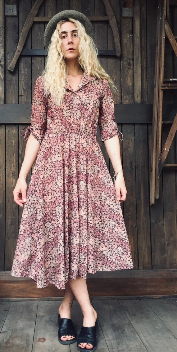 Floral Prairie Dress || Floral Dress || Sheer Flor