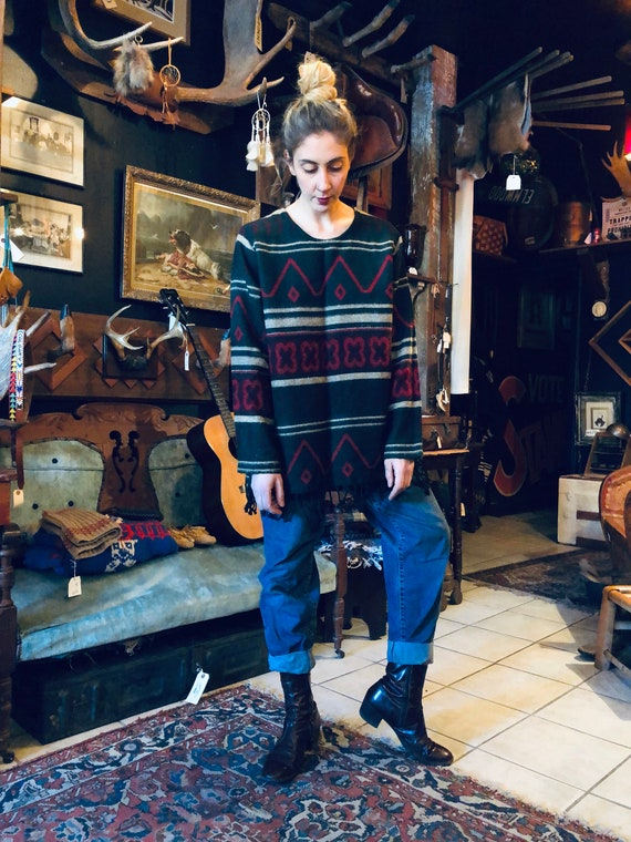 Boho Pullover || Hippie Pullover || Native America