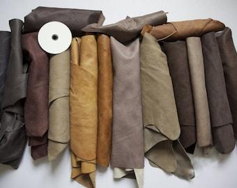 1kg Beautiful Large +++ scraps/ Off cuts Leather Italian
