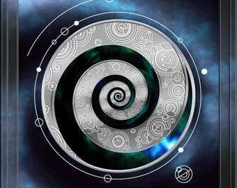 Doctor Who Inspired Gallifreyan A2 Poster - Never Cruel or Cowardly -