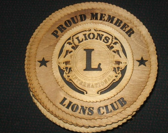 Lions//Club International LOGO ON  WHITE COLLECTOR MARBLE